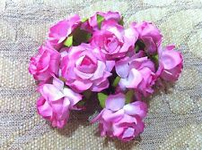 10 Luxury mulberry rose size 3 cm NO.5/card embellishments assorted