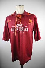1994-95 AS Roma Trikot Gr. L 90er Rom Jersey Asics RAR Maglia Nuova Tirrena