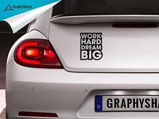 Work Hard Dream Big Inspirational Motivational Car Decal Vinyl Sticker Outdoor