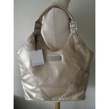 CALVIN KLEIN Asymmetry Pale Gold Tote Shopper Handbag Bag New
