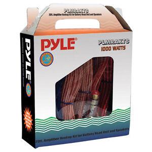 New Pyle PLMRAKT8 Marine Grade 8 Gauge Amplifier Installation Kit Kit