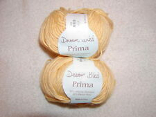 2 SKEINS DEBBIE BLISS PRIMA YARN- 80% Bamboo & 20% Merino- Color# 719 - YELLOW