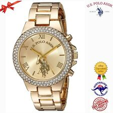 U.S. Polo Assn. Women's Quartz Metal and Alloy Gold Toned Watch USC40032