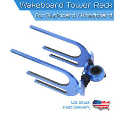 Wakeboard Combo Tower Rack Surfboard & Kneeboard Tower Holder Bat Angle Aluminum