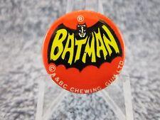 Vintage 1966 Batman A & BC Chewing Gum Pinback Pin, Button (  SUPER RARE  )