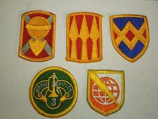 Lot of 5 Military Squadron Brigade Group Patches- Calvary, Field Army etc