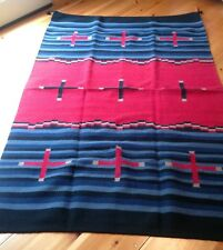 Navajo Design ,Southwestern Wool Rug or Wall Hanging 4 X 6