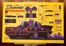 Tom Whalen Batmobile  #119/350 Poster Print Mondo Signed Inforama Batman