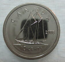 2008 CANADA 10 CENTS PROOF-LIKE DIME COIN