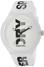 Superdry Mens Analogue Quartz Watch with White Silicone Strap SYG189W