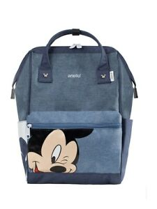 BACKPACK blue denim small big MICKEY MOUSE DISNEY by Anello JP