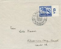 Cover Stamp Germany Mi 814 Sc B204 1940 WWII Third Reich Blue Ribbon Hamburg FDC