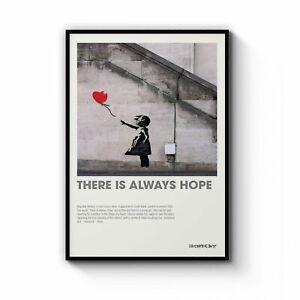 """Banksy """"Hope"""" Gallery Wall Art"""