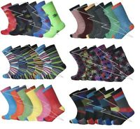 12 And 6 Pairs Designer Mens Socks, Cotton Rich Poly Cotton Mens Socks Size Lot