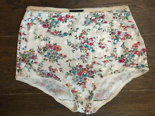 Topshop Flower Sequin Hotpant Shorts High Waist Summer Party Size 12 EUR 40 BNWT