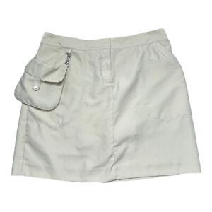 Izod XFG Golf Skort Skirt Tan W/ Pouch Size 6