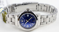 Casio LTP-1215A-2AD Ladies Analog Watch Steel Band Blue Dress with Date New