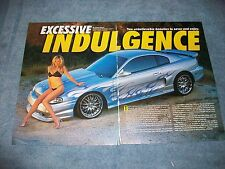 """1998 Ford Mustang GT Article """"Excessive Indulgence"""" Vortech Supercharged"""