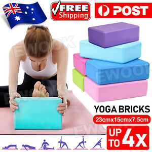 2 / 4 Pcs Gym Sport Tool Foaming Yoga Fitness Practice Block Brick Home Exercise