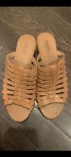 Clarks Sandals 9W Brown Slip On