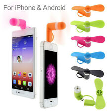 Orange Mini Portable 2 in 1 Micro USB Phone Cooling  Fan for iPhone Android  G35