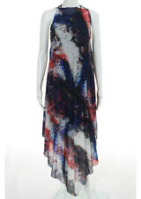NWT LA PERLA Navy Red Animal Printed Pleated Cover-Up Dress Sz 6 0013210 $440