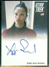 ZOE SALDANA Autograph MINT STAR TREK  AUTO UHURA AVATAR GUARDIANS OF THE GALAXY