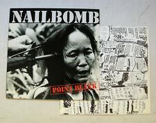 NAILBOMB point blank LP orig 1994 RoadRunner RR 9055-1 WHITE LABEL Cavalera