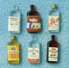 Casa de muñecas en miniatura escala 1/12th Conjunto de 6 botellas de espíritu Surtidos D1067
