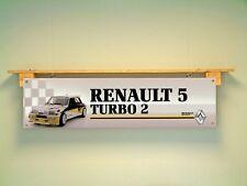 Renault 5 Turbo 2 Banner Garage Car Workshop Display pvc sign Motorsport Rally