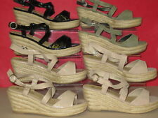 Sandali e scarpe verde zeppa per il mare da donna 100% pelle