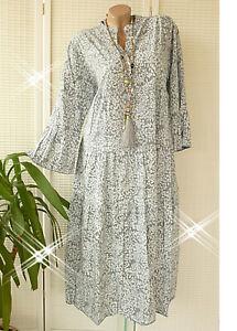 ANGEBOT!!!  40 42 44  schönes oversize Maxikleid Kleid dickere Viskose GRAU