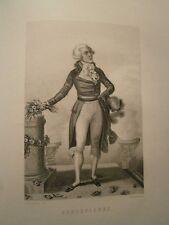 Gravure 19°  Portrait  personnage révolution : Robespierre