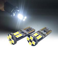 2x White Canbus Error Free Car T10 12 SMD LED W5W 194 168 3030 Wedge Light Bulb