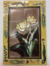 Belle tubelined Tile dosseret murale fait main 18x12 Lily Splashback