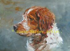 More details for sale brittany signed dog print by susan harper unmounted