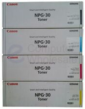 FULL SET 4 x Genuine Canon NPG30 Toners,Black,Cyan,Magenta & Yellow NPG-30 C5180