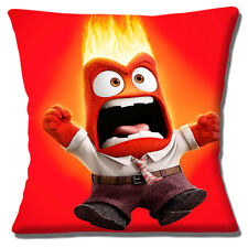 "New INSIDE OUT Disney Film Character ANGER Red Yellow 16"" Pillow Cushion Cover"