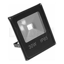 30W COB Outdoor LED Flood Light 6000K Daylight IP65 Black Waterproof
