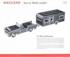 Meccano plan de modelo 10.29/9.9 auto y caravana