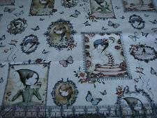 1 Yard Cotton Fabric - Quilting Treasures Santoro Mirabelle Gothic Girl Portrait