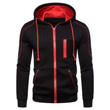 Mens Sport Casual Cotton Hoodie Outdoor Hooded Jacket Sweatshirts Zipper Coat
