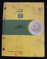 Original John Deere 7700 Combine Parts Catalog Manual Huge Clean