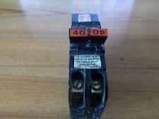Used FPE Federal Pacific  Breaker 40 Amp 2 Pole Stab-Lok Type NC TANDEM NC240