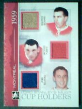 MAURICE RICHARD/J. PLANTE/JEAN BELIVEAU  AUTHENTIC PIECES OF GAME-USED JERSEY/9