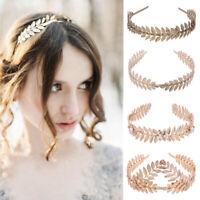 Women Hair Accessories Laurel Leaf Branch Headband Crown Leaves Hair Band