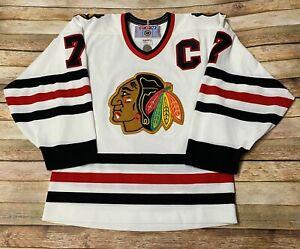 CHICAGO BLACKHAWKS Jersey CHRIS CHELIOS Vtg 1995-99 NHL Hockey CCM Sewn SMALL