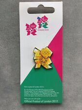 Flamme olympique Logo Pin Badge sur carte-Londres 2012 Jeux Olympiques/Paralympiques