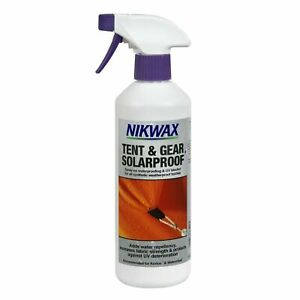 Nikwax tent & gear solarproof 500ml spray on for tents/awnings/marquees/rucksack