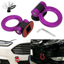 Purple Universal ABS Ring Racing Car Bumper Trailer Tow Hook Decoration Sticker